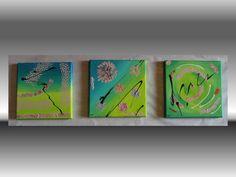 Primavera – Pittura in acrilico su 3 tele 20x20  http://ilmondodifam.wix.com/famou