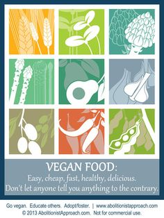 Vegan Food - easy, cheap, fast, healthy, delicious. Don't let anyone tell you anything to the contrary.