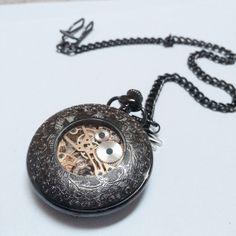 Steampunk Mechanical Pocket Watch SSkeleton by Victorianstudio, $39.98