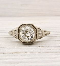 .78 Carat Diamond Antique Engagement Ring | New York Vintage  Antique Estate Jewelry – Erstwhile Jewelry Co NY