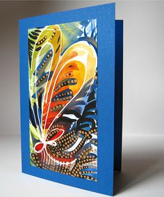 Jungle. Hand made watercolor greeting card with golden paint.  #birthday #Christmas #NewYear