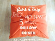 Today I'm going to show you a quick and clever way to give your throw pillows a face-lift that uses absolutely NO SEWING! I bought a couple of cute Christmas pillows for the. Easy No Sew Pillow Covers, Decorative Pillow Covers, Sewing Pillows, Diy Pillows, Throw Pillows, Cushions, No Sew Fleece Blanket, Sewing Projects, Diy Projects