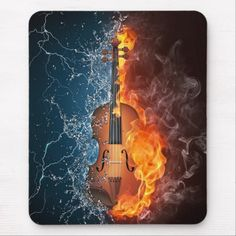 DRUMS ON FIRE FLAMES MUSIC MODERN BOX CANVAS PRINT WALL ART PICTURE