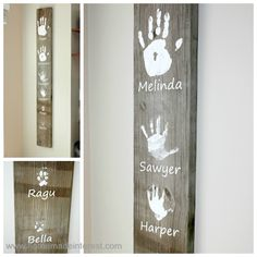 New ideas diy gifts for grandparents wall hangings handprint art Diy Mothers Day Gifts, Fathers Day Crafts, Diy Gifts, Homemade Fathers Day Gifts, Handmade Gifts, Parent Gifts, Teacher Gifts, Family Crafts, Crafts For Kids