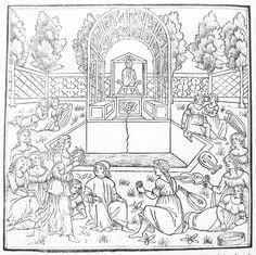 From the Hypnerotomachia Poliphili - Medieval garden design. By Francesco Colonna (1499)