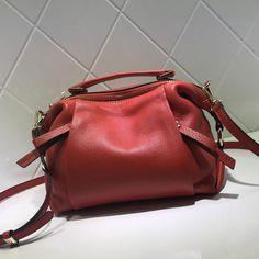 Women Fashion Gray Leather Bag Handbag Messenger Bag Shoulder Bag AM06 - LISABAG