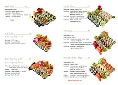 Pages from menu - Sushi Maestro - designed by AUVIDIA