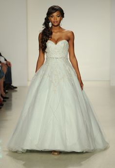 Tiana Ball Gown Wedding Dress | Disney Fairy Tale Weddings by Alfred Angelo Fall 2015 | blog.theknot.com