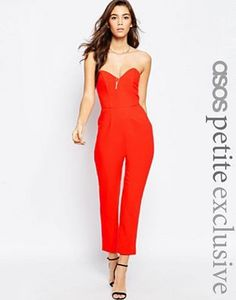 ASOS PETITE Bandeau Jumpsuit with Sweetheart Neck $54.00