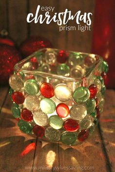 Rainbow Rays Christmas Candle Prism Light Craft - This is a simple Christmas craft and makes a great gift idea, especially for those who love giving handmade presents! I personally think homemade gifts are the best!