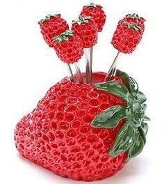 strawberry kitchen | Unique Cute Stuff for Home: Kitchen Stuff - Toothpick Holder ...