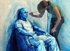 O corpo como tela. É esse o resumo do trabalho da artista Alexa Meade, que transforma homens e mulheres em quadros por meio da pintura corporal.