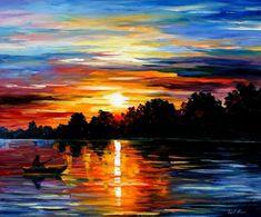 leonid sunset