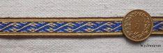 Dragon-head motif. Dublin, ca 950 CE. Reproduction found on the Wychweaves site.