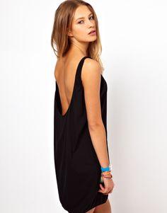 Low back tank dress