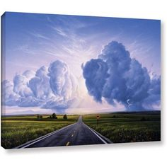 Jerry Lofaro Buffalo Crossing Gallery-Wrapped Canvas, Size: 36 x 48, Green