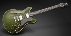 Framus Mayfield Custom Emerald Green Oiled AAAA Quilt with LED Framus Logo
