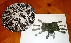Handprint Spiders, Marble Paint Webs & Learning Fun from Mom to 2 Posh Lil Divas