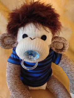 Baby Sock Monkey George. Rockford Red Heel sock monkey.