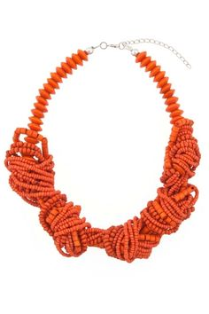 The Sands Knotted Bead Necklace gives  the pop you need for a night dancing on the beach!
