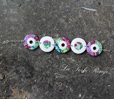 Bracelet fimo polie, couleurs de printemps...