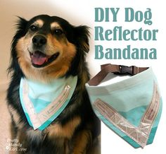 Sewing a Dog Safety Reflective Bandana - Pretty Handy Girl I Love Dogs, Puppy Love, Dog Safety, Dog Crafts, Animal Projects, Dog Bandana, Diy Stuffed Animals, Dog Accessories, Dog Supplies