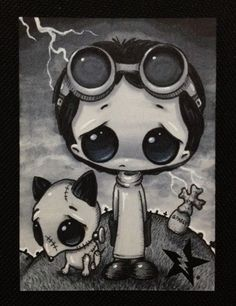 Hey, I found this really awesome Etsy listing at http://www.etsy.com/listing/156282643/sugar-fueled-frankenweenie-victor-sparky