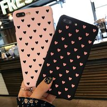 New Cartoon Love Heart Case For Coque iphone 6 Case Hard PC Back Covers For iphone 6s 7 Plus Phone Cases Capa Fundas(China (Mainland))