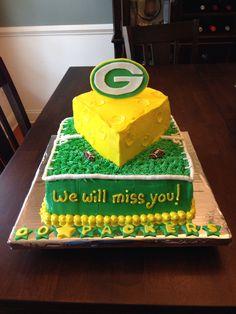 Green Bay Packers cheese head cake 288359f05