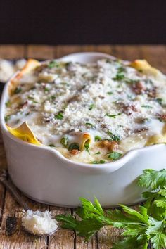 Homemade Creamy White Sauce Lasagna, an easy delicious Italian Lasagna Recipe, layered with peas, sausage, mushrooms and the perfect Bechamel Sauce. It just might become your new favorite Dish. White Sauce Lasagna Everyone has eaten White Sauce Lasagna, Lasagna With Bechamel Sauce, Lasagna Sauce, Lasagna Recipe With Ricotta, Sausage Lasagna, Veggie Lasagna, Homemade White Sauce, Making White Sauce, Kitchens