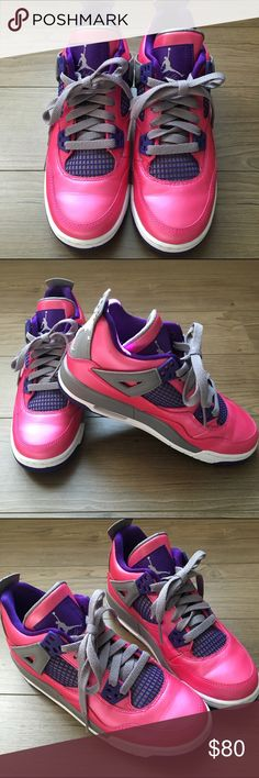 d047a3dc604f Pink Air Jordan 4 Retro Flight Worn once. Size 4 youth   women s size I did  not save the original box.