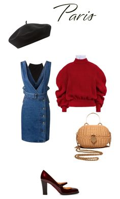 """Fall in Paris"" by teesuptshirts on Polyvore featuring T By Alexander Wang, A.W.A.K.E., Accessorize, Christian Louboutin and Chanel"