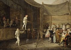 Defrance, Leonard, (1735-1805), The Rope Dance, Oil