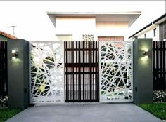Deciding a gate design for small house often gets perplexing. Get some beautiful simple gate design ideas that would make your house look gracious. House Main Gates Design, Front Gate Design, Main Door Design, Entrance Design, Small House Design, Fence Design, Modern Iron Gate Designs, Simple Gate Designs, Latest Main Gate Designs