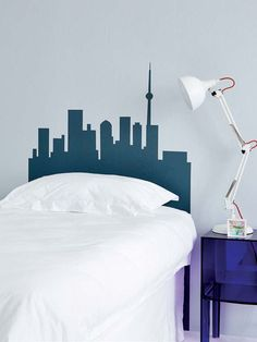 City Silhouette: Fall asleep with the city skyline just above your head