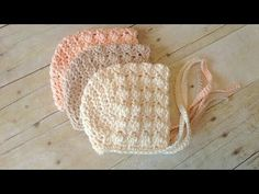 Crochet baby bonnet or hat 2-3 months easy to make #114 - YouTube