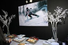 Ski Theme Bar Mitzvah Decorations {Party at SPACE NJ, Chris Herder Photography} - mazelmoments.com