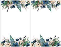 Blue Free Printable Invitation Templates - Paper Trail Design