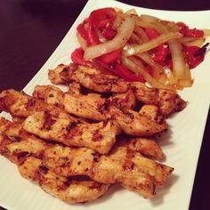 Dukan Diet Chicken Fajita Strips Recipe. Attack Phase without peppers, Cruise Phase with peppers.