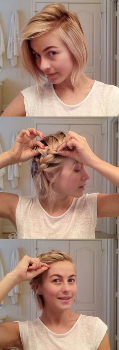 Messy Braid For Short Hairstyles 2016 2017