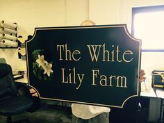 This sign for The White Lily Farm is an elegant example of Aluminum Signage.  Could you use an elegant solution? 412-264-4555