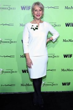 Helen Mirren attends the 7th annual Women in Film Pre-Oscar Cocktail Party at Fig & Olive in West Hollywood, Calif., on Feb. 28, 2014.