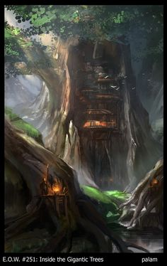 Environmental Art.  Tree Side City