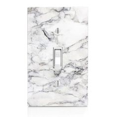 Home Decor Light Switch Cover-White Marble