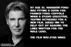 33 Facts About Famous People You Won't Believe Are True Article | Harrison Ford