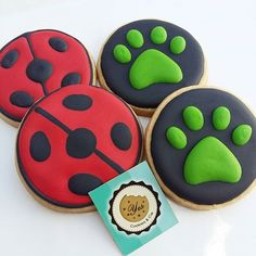 Image result for miraculous ladybug cookies
