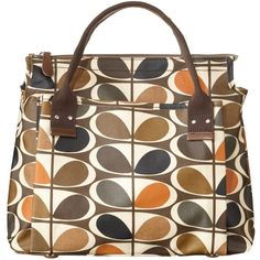 Orla Kiely Oval Stem Handbag (1 720 UAH) ❤ liked on Polyvore featuring bags, handbags, shoulder bags, amber, leather purse, brown crossbody, brown leather handbags, brown crossbody purse and genuine leather handbags