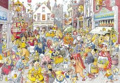 High Street Hussle - 1000 piece Wasgij Destiny jigsaw puzzle from Jumbo. Puzzle measures 26.8