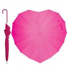 Bombay Duck Fuchsia Pink Heart Shaped Parasol Umbrella