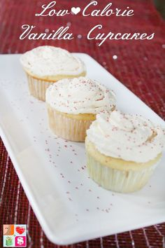 Southern Mom Loves: Day 5: Low Calorie Vanilla Cupcakes {#12DaysOf Valentine's}